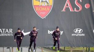 Roma, ecco il primo allenamento dell'anno