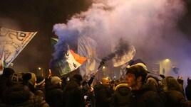 La festa della Lazio accende piazza della Libertà