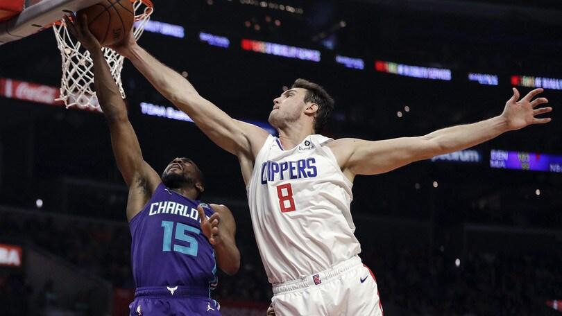 NBA, Gallinari segna 20 punti: tris di vittorie per i Clippers. Denver rialza la testa