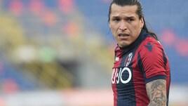 Serie A Bologna, escluse lesioni per Santander. Si ferma Nagy