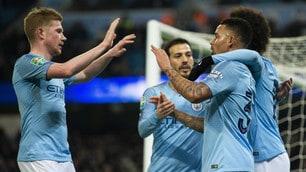 Carabao Cup, show del Manchester City contro il Burton