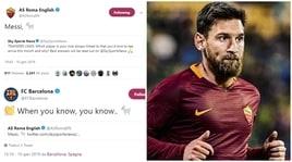 Roma e Barcellona, scambio di tweet su Messi