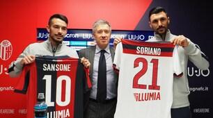 Bologna, doppia S: presentati Soriano e Sansone