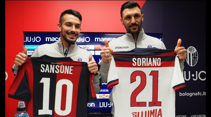 Calciomercato Bologna, si parte dai riscatti di Sansone e Soriano