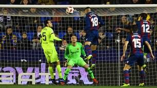Barcellona ko in Coppa del Re: vince il Levante