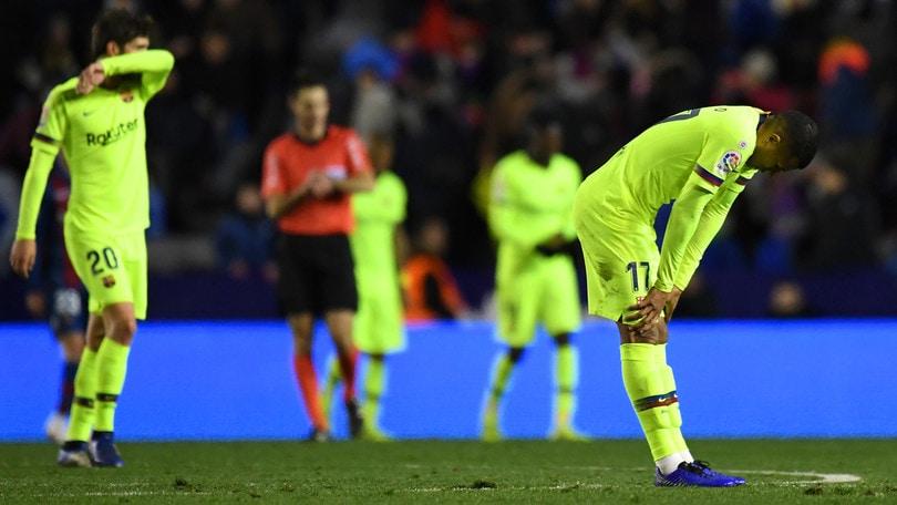 Senza Messi il Barcellona non va: vince 2-1 il Levante