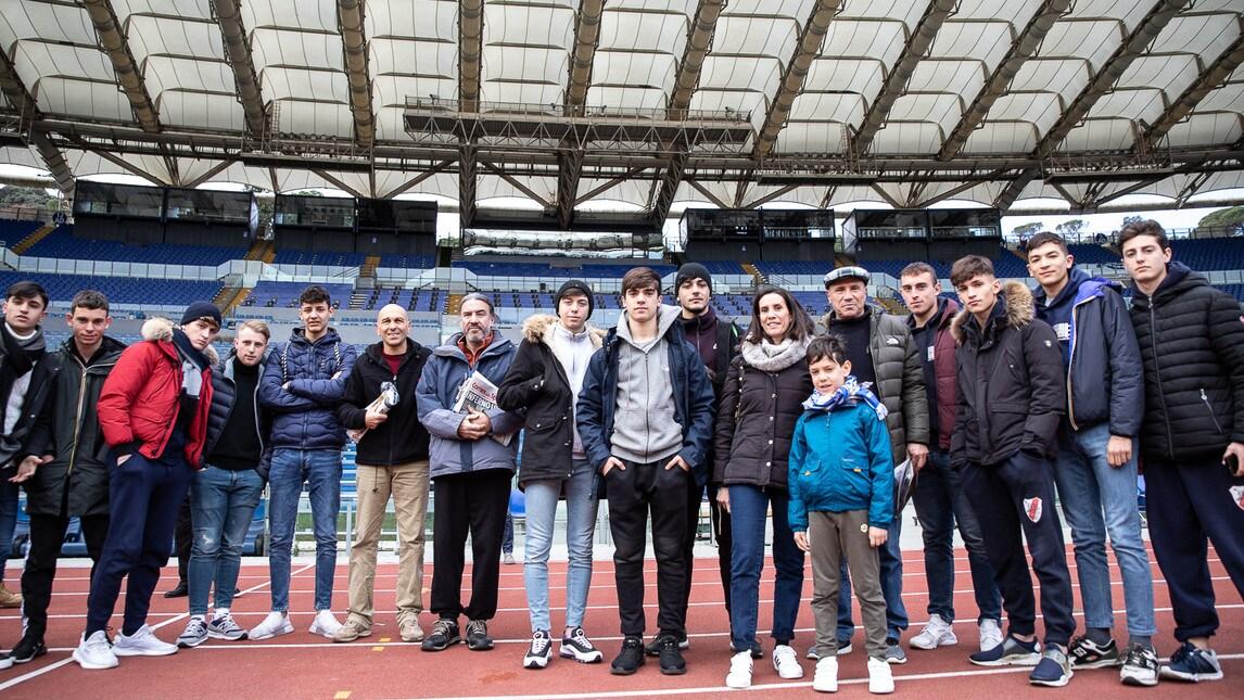 Grande entusiasmo per la conferenza stampa, che si è svolta allo Stadio Olimpico, dedicata alla manifestazione che coinvolge le scuole del Lazio: una giornata davvero emozionante per tantissimi studenti