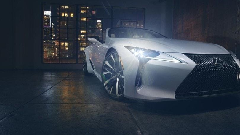 Lexus LC Convertible, il concept a Detroit