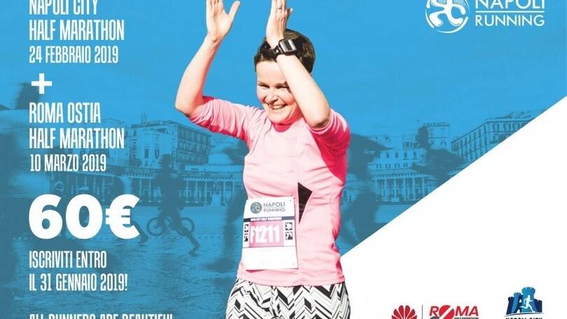 Iscrizione unica per Napoli City Half Marathon e Roma Ostia