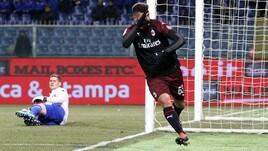 Coppa Italia Sampdoria-Milan 0-0 (0-2 dts), il tabellino