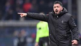 Sampdoria-Milan, Gattuso: «Higuain? Lo terrei a casa mia ma non so cosa accadrà»