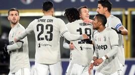 Bologna-Juventus 0-2, Bernardeschi e Kean per i quarti