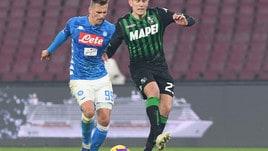 Coppa Italia Napoli-Sassuolo 2-0, il tabellino