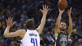 NBA, Steph Curry punta Allen e Miller nella classifica all time delle triple