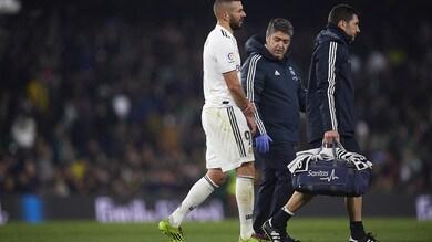 Real Madrid, ennesimo infortunio: si ferma anche Benzema