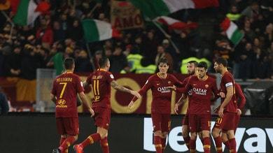 Coppa Italia Roma-Virtus Entella 4-0, il tabellino