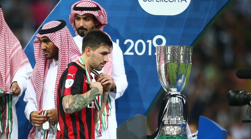 Milan, Romagnoli contro l'arbitro in Supercoppa: