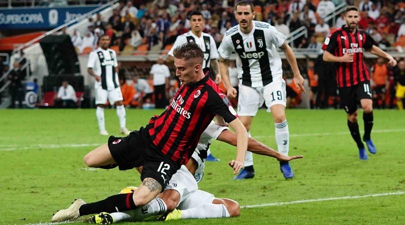 Juventus-Milan: rigore su Conti. Zapata-mani no. Kessie, ok il rosso