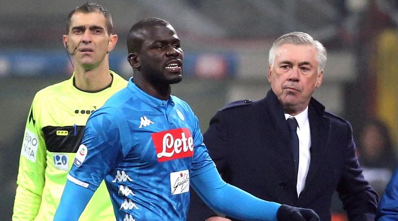 Serie A, respinto il ricorso del Napoli: confermata la squalifica di Koulibaly