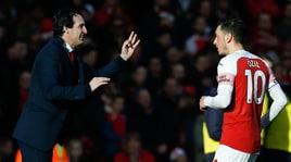 Inter, Emery resta vago: «Ozil via? Penso a come può aiutarci»