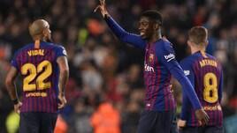 Coppa del Re: Barcellona ai quarti con Espanyol e Betis. Doppietta Dembele al Levante