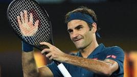 Australian Open: Federer avanti facile, fuori Fabbiano