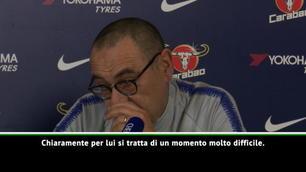 """Sarri: """"Morata? Momento difficile"""""""