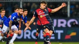 Piatek, iniziato l'incontro Milan-Genoa