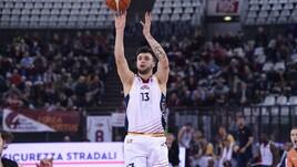 Basket, A2, Baldasso carica la Virtus Roma: «Partita solida per battere Bergamo»