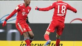 Hoffenheim-Bayern 1-3, Goretzka e Lewandowski per la sesta vittoria di fila