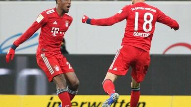 Bundesliga, il Bayern Monaco regola l'Hoffenheim e accorcia sul Borussia Dortmund