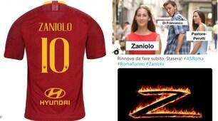 Roma, i tifosi esaltano Zaniolo: «Dategli la maglia numero 10»
