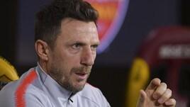 Di Francesco: «Ce la siamo complicata. Dzeko? Deve fare i gol difficili»