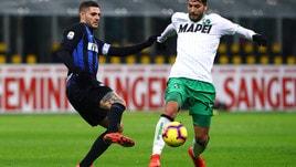 Serie A Inter-Sassuolo 0-0, il tabellino