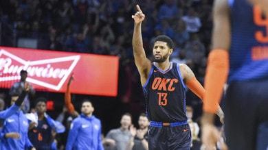 NBA, che spettacolo nella notte: Harden altri 48 punti, Paul George trascina OKC