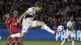 Ibrahimovic prende per il collo un avversario: la MLS lo squalifica