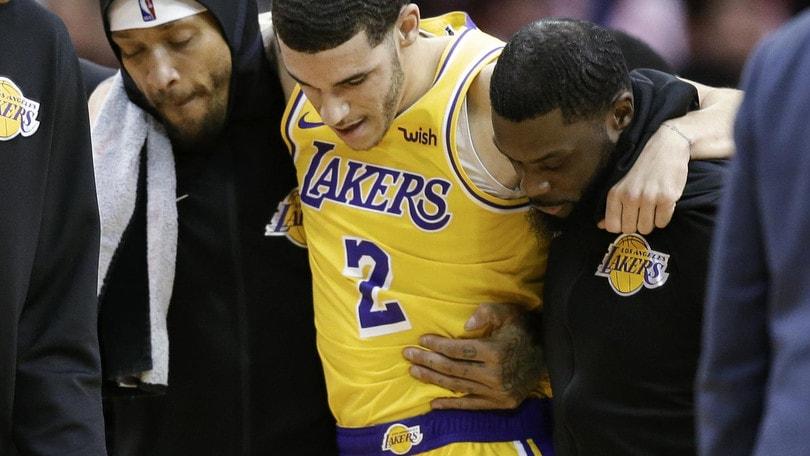 NBA, altri problemi per i Los Angeles Lakers: si ferma anche Lonzo Bal