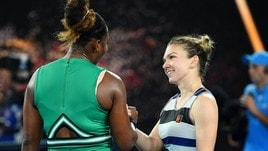 Tennis, Australian Open: fuori la Halep, Serena Williams vince e sfida la Pliskova