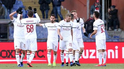 Genoa-Milan 0-2, Borini e Suso firmano il blitz: rossoneri al 4° posto