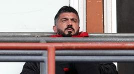 Gattuso squalificato segue il Milan dalla tribuna