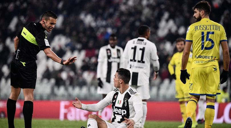 Moviola Serie A, Juventus-Chievo: Piccinini, dubbi da rigore su CR7 e su Pellissier
