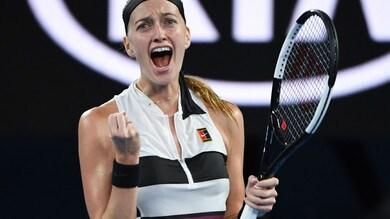 Australian Open: Kvitova domina la Barty e passa in semifinale con la Collins