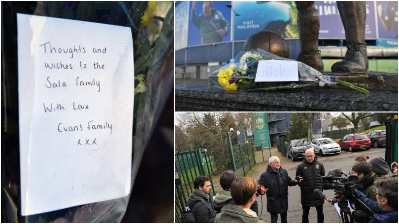 Emiliano Sala, fiori a Cardiff e sgomento a Nantes