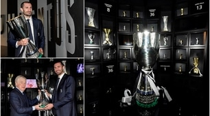 Juventus, Chiellini consegna la Supercoppa al museo
