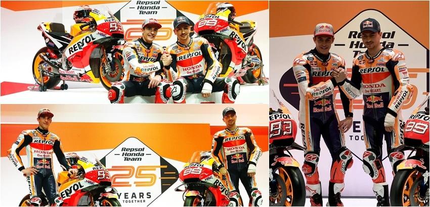MotoGp, svelata la Honda 2019 per Marquez e Lorenzo