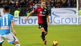 Serie A Cagliari, trauma al ginocchio destro per Klavan