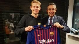 Barcellona, ufficiale De Jong: all'Ajax 86 milioni!