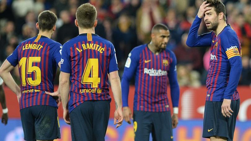 Il Barcellona con Boateng non va: 2-0 a Siviglia in Coppa del Re