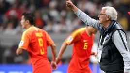 Coppa d'Asia: Cina fuori ai quarti, più vicino l'addio di Lippi