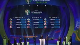 Coppa America 2019, gironi: il Brasile con la Bolivia, l'Argentina con la Colombia